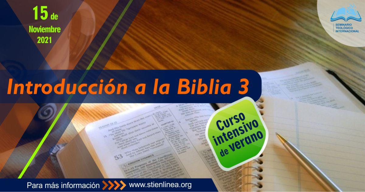 curso introducción biblia