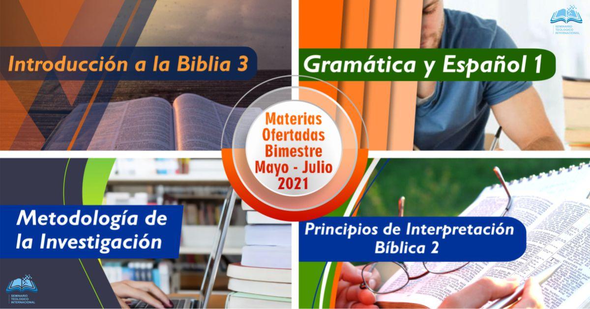 cursos mayo - julio 2021